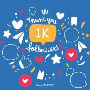 Thank You Followers 1k Download From Coreldrawdesign Free