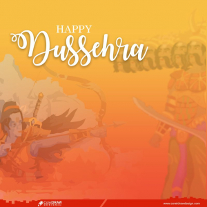 Happy Dussehra Celebration Greeting Card with Vector Free Premium Vector