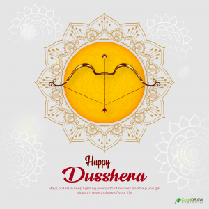 Beautiful Dusshera Bow Arrow Social Media Post Template