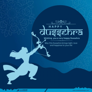 Happy Dussehra Lord Rama Bow Arrow Background Free Vector