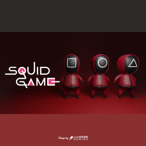 Squid Games Character With Mask 3D Landscape Rendered Cute Download From Coreldrawdesign