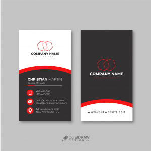 Abstract Simple Visiting Card Vector Template