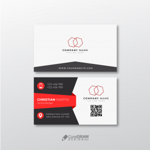 Corporate Professional Red Business Card Free Vector Template