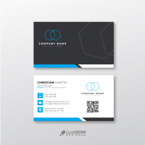 Clean Elegant Simple Visiting Card Vector Template