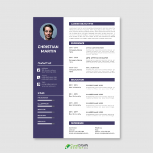 Abstract Corporate Cv curriculum vitae Vector Template