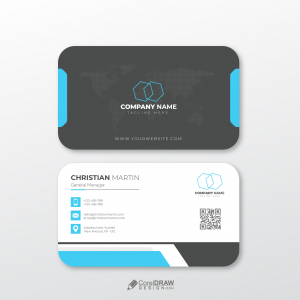 Abstract Corporate Business Card Vector Template
