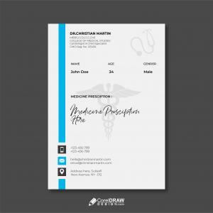 Abstract Medical Doctor Prescription Letterhead Template