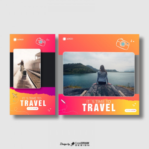 Its Time to Travel Free FLyer Download From Coreldrawdesign