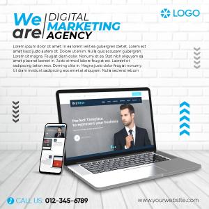 Social Media Marketing Agency Promotional Banner Design Template, Free CDR
