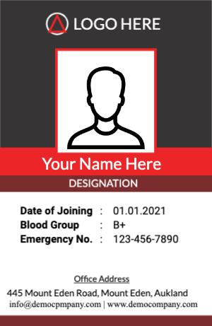 Black Red Identity Card