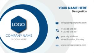 Blue White Circle Business Card