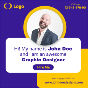 Hire Me Social Media Banner Template